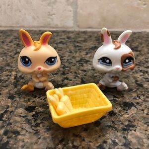 Littlest Pet Shop Lps Baby Bunny Rabbit Lot EUC